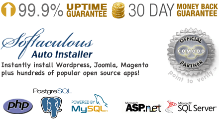 Softaculous Auto Installer, Instantly install Wordpress, Joomla, Magento plus hundreds of popular open source apps. Supports multiple php versions, MySQL and PostgreSQL Databases, ASP.NET and SQL Server databases